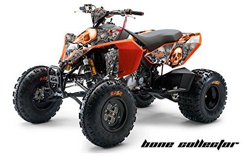AMR Racing KTM 450, 525 and 505 ATV Quad, Graphic Kit - Bone Collector: Orange (Ktm 525 Quad compare prices)