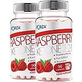 FORZA Raspberry Ketone 2:2:1 Natural Fat Burners - 2 x Pack of 90 Capsules (180 Capsules)