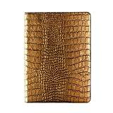 【日本正規代理店品】GAZE iPad Air 2専用 レザーケース 本革 スタンド機能付 Gold Croco Diary ダイアリータイプ GZ5055iPA2