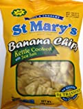 St Mary's Banana Chips Kettle Cooked with Sea Salt 142g