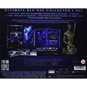 Avatar (ultimate blu-ray collector's set+libro+action-figure di Jake Sully+fotogramma da collezione