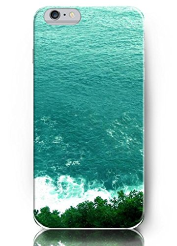 Ouo New Unique Design Hard Cover For 5.5 Inch Iphone 6 Plus Case With Design Of Green Water And Green Trees