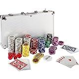Ultimate Pokerset mit 300 hochwertigen 12 Gramm METALLKERN Laserchips