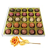 Valentine Chocholik Premium Gifts - Express Your Feelings Truffle Gift Box With 24k Gold Plated Rose