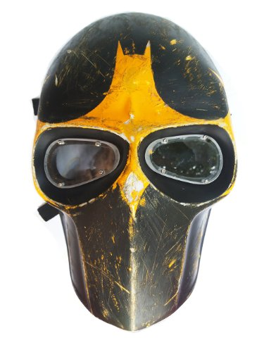 New Unique Handmade The BATMAN Paintball Airsoft BB Gun Mask Black YELLOW Army PROTECTIVE GEAR OUTDOOR SPORT And Fancy Party Ghost Masks.