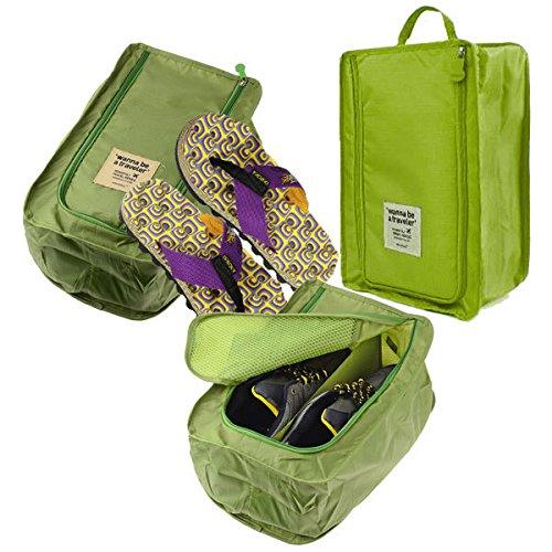 Packnbuy Travel Light Waterproof Shoe Storage Navy Blue Bag Organizer