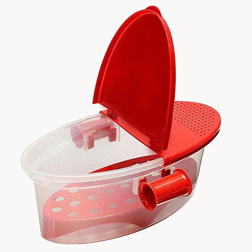 Micro-ondes Cuiseur à Pâtes Plastique Bateau Boîte à Cuisson Spaghetti - Rouge