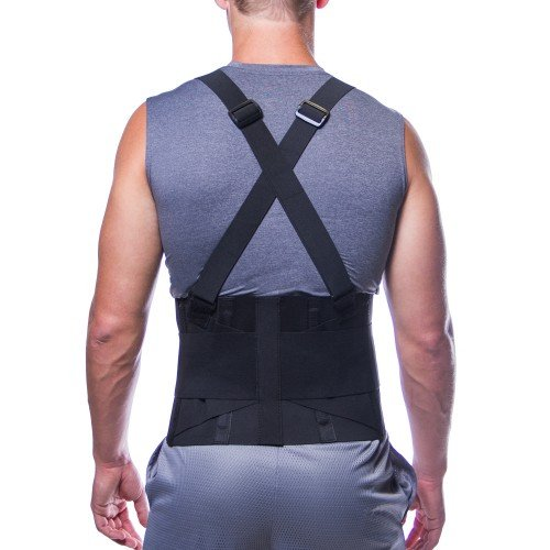 Men's Lower Back Support Belt for Heavy Lifting