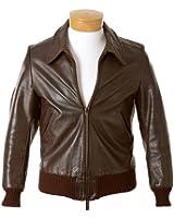 Men's Happy Days Fonzie Henry Winkler Brown Real Leather Jacket