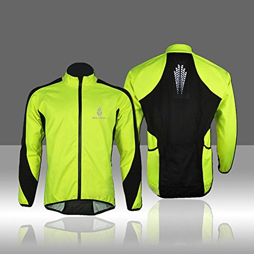 docooler WOLFBIKE Fleece Thermal Cycling Long Sleeve Jersey Winter Outdoor Sports Jacket Windproof Wind Coat Bicycle Cycle Wear Clothing (Thermal Bicycle Jacket compare prices)