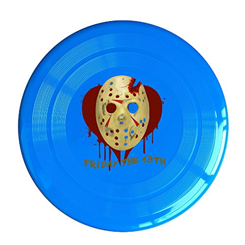YFF Friday The 13th Bloody Mask 150 Gram Ultimate Sport Disc Frisbee RoyalBlue