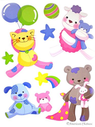 Teddy Bears Wall Sticker Art Deco Decal Stickers Kids Room Nursery Mural DIY
