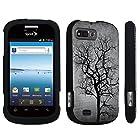 DuroCase ® ZTE Valet Z665C / ZTE Director N850L / ZTE Fury N850 Hard Case Black - (Black Tree)