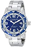 Stuhrling Original Mens 415.02 Aquadiver Regatta Analog Display Swiss Quartz Silver Watch