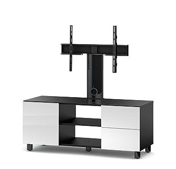 Accord TRN3110 B-WHT Sonorous TV-Möbel fur 50 Zoll Fernseher, Holz, weiß, 45 x 120 x 45 cm