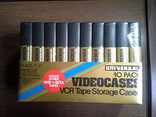 Universal VCR Tape Storage Cases VIDEOCASES for BETA & VHS 10 PACK NIB