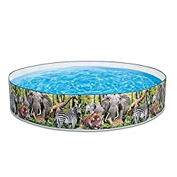 Exclusive Plastic Snapset 8ft Kiddie Swimming Pool With Limited Edition Majestic Animal Design
