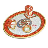 Stop Here Pooja Thali With Ganapati(6X4 Inches,Mutli Color)