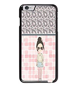 PrintDhaba Cute Girl D-2758 Back Case Cover for APPLE IPHONE 6 PLUS (Multi-Coloured)
