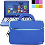 Evecase HP Stream 11 UltraPortable Handle Carrying Portfolio Neoprene Sleeve Case Bag for HP Stream 11 11-d010nr Notebook 11.6 inch Laptop - Blue