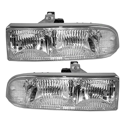 Driver and Passenger Headlights Headlamps Replacement for Chevrolet Pickup Truck SUV 16526217 16526218 (S10 Headlight Assembly compare prices)