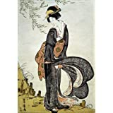 A Beauty Bothered by the Wind under a Willow, by Utagawa Toyohiro (V&A Custom Print)