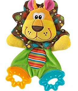 Cute Lion Baby Toys Learning & Education Soft Toy with Teether and Ring Paper suit for 0-12 Months