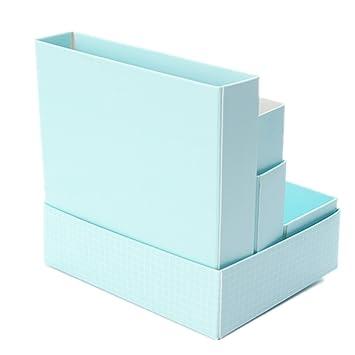 kingso bo te de de rangement en papier pour maquillage cosm tique box makeup bleu. Black Bedroom Furniture Sets. Home Design Ideas
