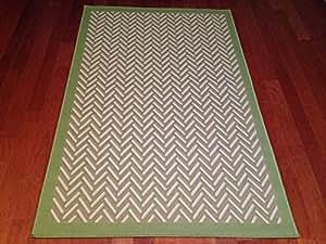 Amazon 3 x5 Patio Indoor Outdoor Rug Green Beige
