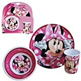 Minnie Mouse 3pc Melamine Dinner Set