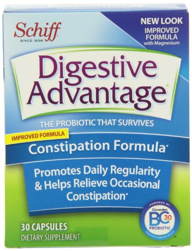 Digestive Advantage Probiotic Dietary Supplement, Constipation Formula, 30 Count