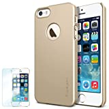 Spigen iPhone 5S Case Slim **NEW Release** [Ultra Fit] [Champagne Gold] FREE Screen Protector + Premium SM Coated Matte Hard Case with Apple Logo Cutout for the NEW iPhone 5S and iPhone 5 – ECO-Friendly Packaging – Champagne Gold (SGP10606) Reviews