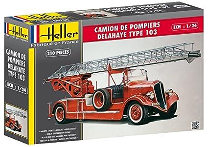 Heller - 80780 - Maquette - Camion de Pompier Delahaye Type 103 - Bonneville