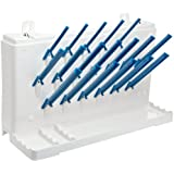 "Bel-Art Scienceware 189330011 Acrylonitrile Butadiene Styrene Lab-Aire II Single-Sided Non-Electric Benchtop Drying Rack, 14.75"" Width x 5"" Depth x 9.4"" Height"