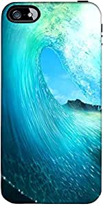 Snoogg Waves Sea Case Cover For Apple Iphone 4/4S/4S