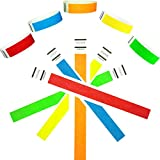 "Goldistock 3/4"" Tyvek Wristbands Rainbow 200 Ct. Variety Pack- 40 Each: Neon Blue, Green, Yellow, Orange, Red"