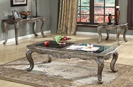 Antique Platinum Coffee Table by Acme Furniture