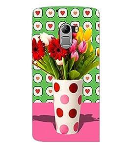 PrintDhaba Flower Vass D-2795 Back Case Cover for LENOVO K4 NOTE A7010 (Multi-Coloured)