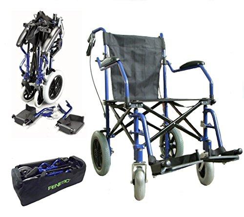 Elite Care Leichte Deluxe-Klappreise Rollstuhl in einer Tasche mit Handbremsen - ECTR04HD