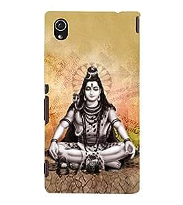 Vishalaksha Shiva 3D Hard Polycarbonate Designer Back Case Cover for Sony Xperia M4 Aqua :: Sony Xperia M4 Aqua Dual