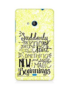 AMEZ start something new and the magic begins Back Cover For Microsoft Lumia 535