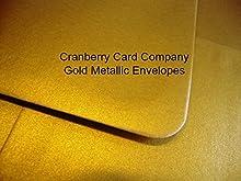 C5/A5Gold Metallic Calidad Premium Sobres de Cranberry Card Company