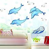StillCool - Pegatinas decorativas, diseño de delfines y gaviotas