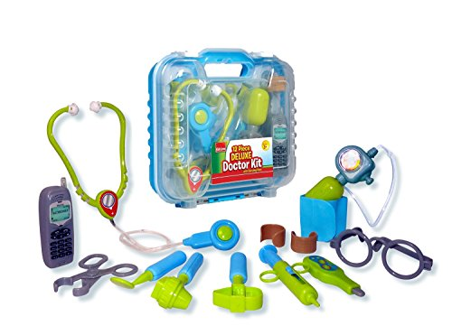 Durable Kids Doctor Kit with Electronic Stethoscope and 12 Medical Doctor's Equipment, Packed in a Sturdy Gift Case (Blood Pressure Kit For Kids compare prices)