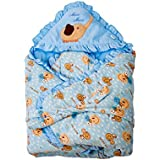 Mee Mee MM-98023E Baby Warm Wrapper Cum Blanket With Hood (Blue)