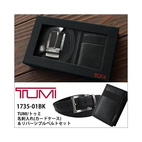 (トゥミ) TUMI TUMI トゥミ 名刺入れ カードケース&リバーシブルベルトセット ブラック【1735-01BK】 [並行輸入品]