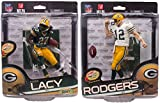 Aaron Rodgers and Eddie Lacy Green Bay Packers McFarlane NFL 34 Combo