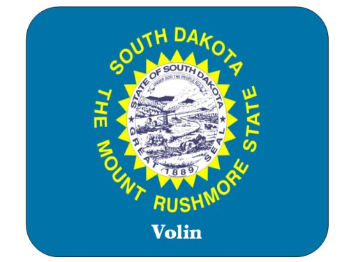 Коврик для мышки US State Flag - Volin, South Dakota (SD) Mouse Pad