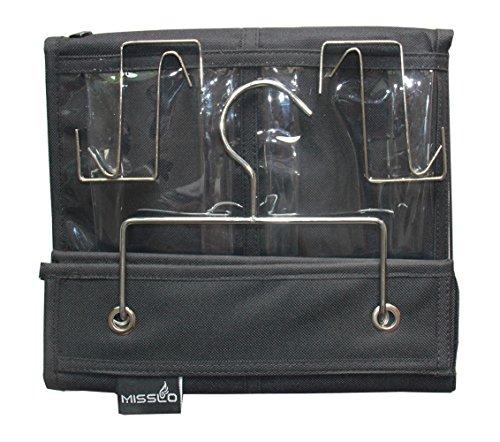 Misslo 16 clear pockets over the door shoe organizer for Over wardrobe storage