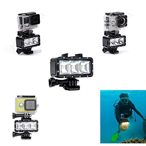 New-Waterproof-Diving-Light-High-Power-Dimmable-LED-Light-Underwater-Light-For-Gopro-Hero-4332SJCAM-SJ4000SJ5000Xiaomi-Yi-with-1200mAh-Built-in-Rechargeable-Battery-Charging